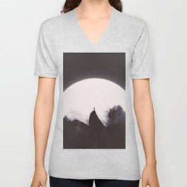 Abaddon Black & White Unisex V-Neck