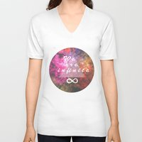 infinite V-neck T-shirts featuring Infinite by MJ Mor