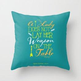 Queen Elinor Throw Pillow