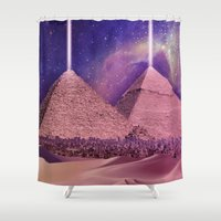 egypt Shower Curtains featuring Hipsterland - Egypt by Alejo Malia