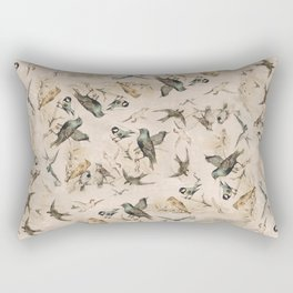 Vintage Grunge Birds Rectangular Pillow