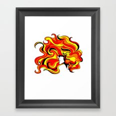 your hair is on fire Framed Art Print