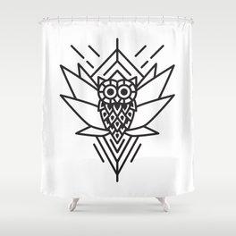 Owl Minimal Shower Curtain