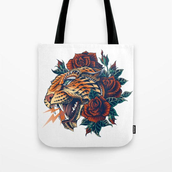 Ornate Leopard (Color Version) Tote Bag