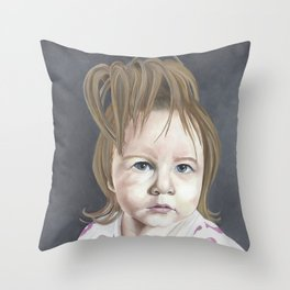 Camber in oil Throw Pillow