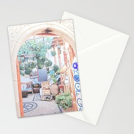 Lindos Deli Shop Rhodes Island Greece Stationery Cards