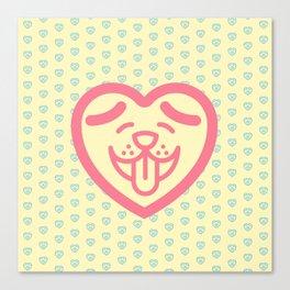 Puppy Love (Pink) Canvas Print