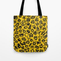 talking heads Tote Bags featuring Heads. by panova