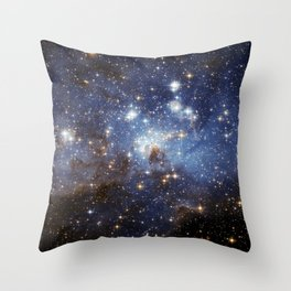 LH 95 stellar nursery in the Large Magellanic Cloud (NASA/ESA Hubble Space Telescope) Throw Pillow