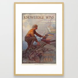 Wikipedia is Free Framed Art Print
