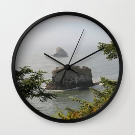 Beautiful View Over The Sea Wall Clock