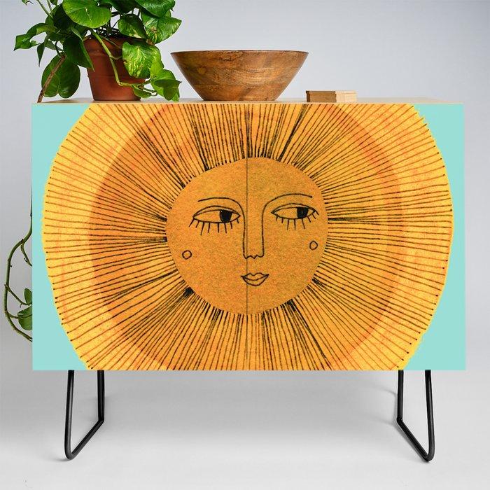 Sun_Drawing_Gold_and_Blue_Credenza_by_Sewzinski__Black__Birch