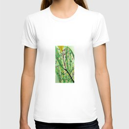 Colorful Abstract Tree Acrylic Painting Art  by Saribelle Rodriguez T-shirt