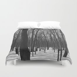 Trees in the forest Duvet Cover