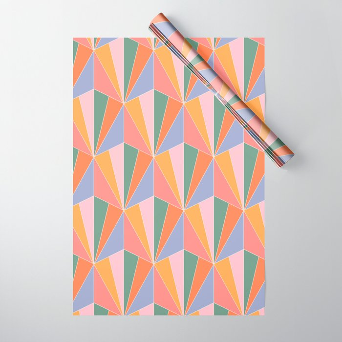 Gisela Pattern - Vintage Rainbow Wrapping Paper