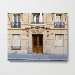 PARIS DOORS: NO. 6 (Paris, France) Metal Print