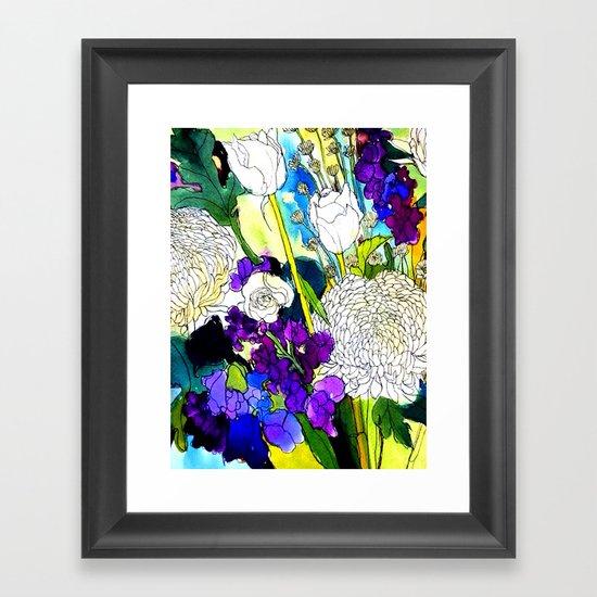 forest flowers 1 Framed Art Print