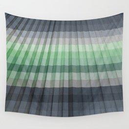 Pleats Gray Green Wall Tapestry