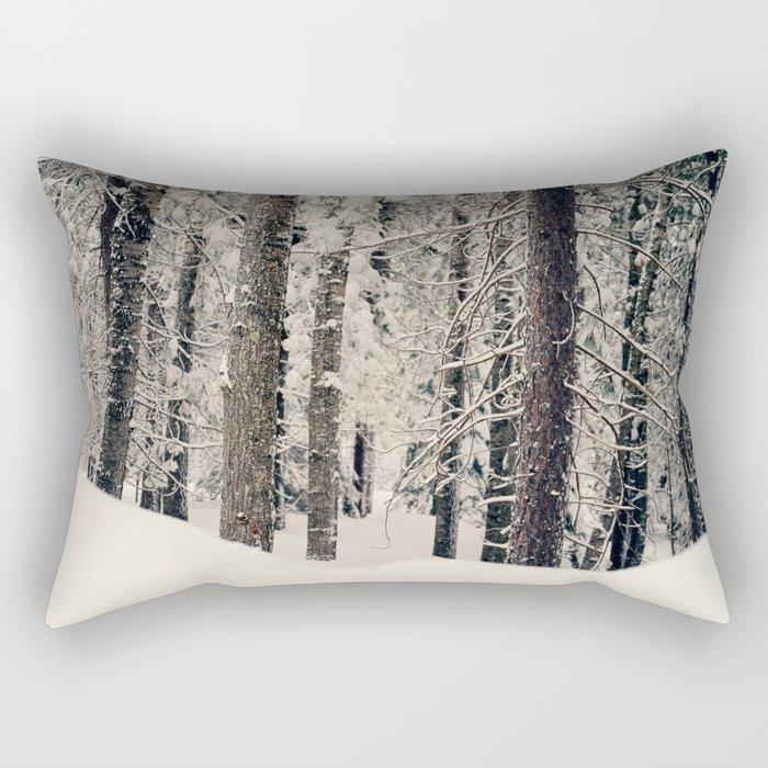 Winter Woods 1 Rectangular Pillow