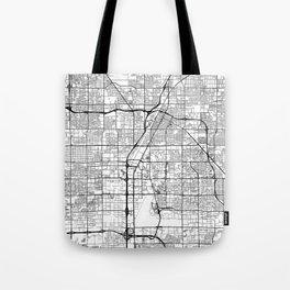 Las Vegas Map White Tote Bag