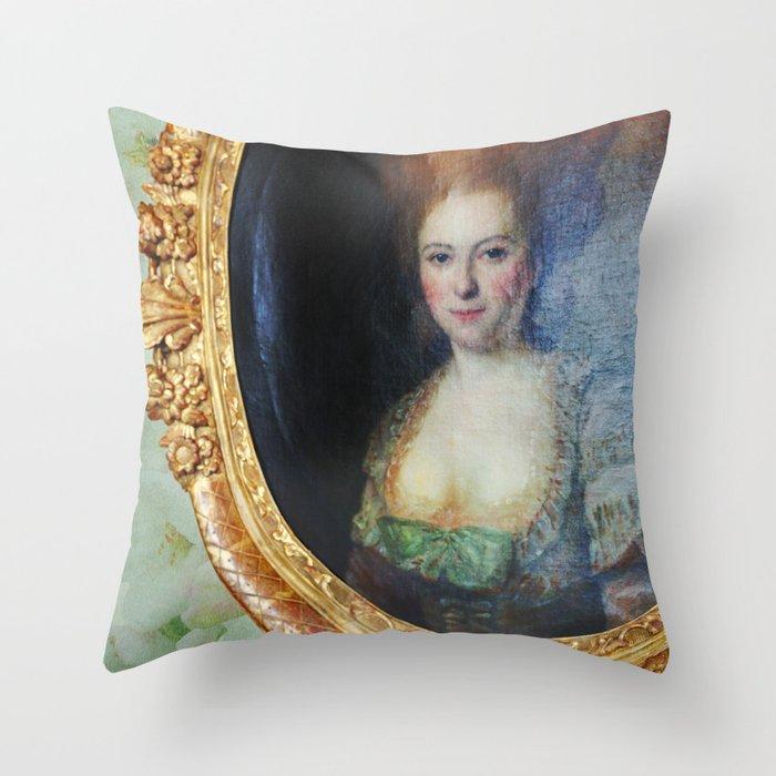 Roccoco Apple blossom Throw Pillow