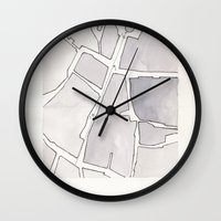 lee pace Wall Clocks featuring Santa Maria della Pace by Patrick Bourgeois