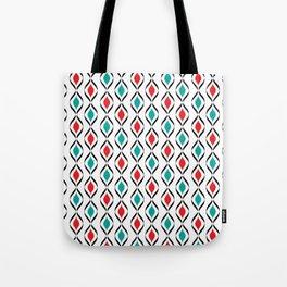 Retro Fun Pattern Tote Bag