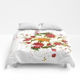 Beautiful Australian Native Floral Graphic Comforters