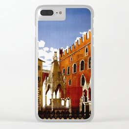 Vintage Verona Italy Travel Clear iPhone Case