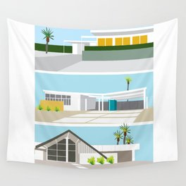 mid-centery house one, three, four Wall Tapestry