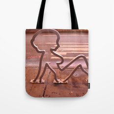 Lady Shape Bike Rack Tote Bag