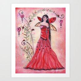 Lady Love bug fairy Art Print