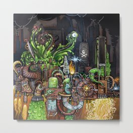 Contraption of Waste Metal Print