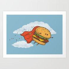 Superburger! Art Print