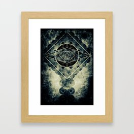 Sacred Geometry for your daily life -  SATURN EYE Framed Art Print
