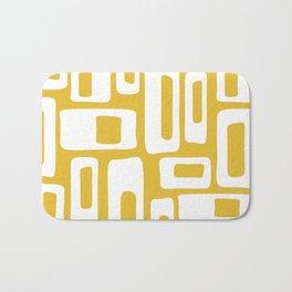 Retro Mid Century Modern Abstract Pattern 335 Mustard Yellow Bath Mat