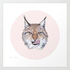 Lynx Lynx portrait Art Print