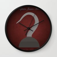 captain hook Wall Clocks featuring Captain James Hook | Villains do It Better by Gabriele Omar Lakhal