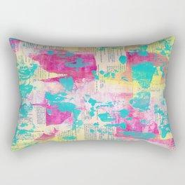 Abstract Mixed Media - Neon Rectangular Pillow