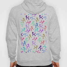 Modern whimsical neon color cute fashion poodle Hoody