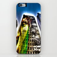 mike wrobel iPhone & iPod Skins featuring Mike by Klezmatik