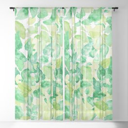 green leaves under sunlight Sheer Curtain