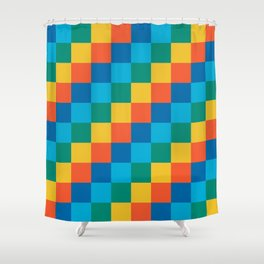 Color me happy - Pixelated Pattern in bright colors Shower Curtain