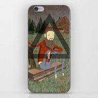 bon iver iPhone & iPod Skins featuring Bon Iver by Doug Crookston