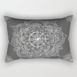 Gray mandala Rectangular Pillow