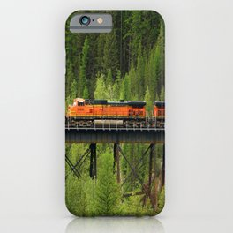 Train Going Over The Goat Leak Bridge iPhone Case