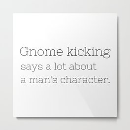 Gnome kicking - GG Collection Metal Print