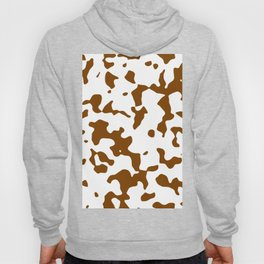 Large Spots - White and Chocolate Brown Hoody