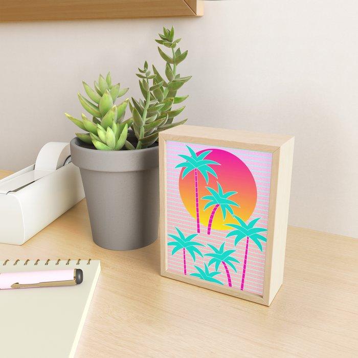 Hello Miami Sunset Framed Mini Art Print