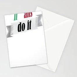 Funny italians do it better italian pride shirt Stationery Cards